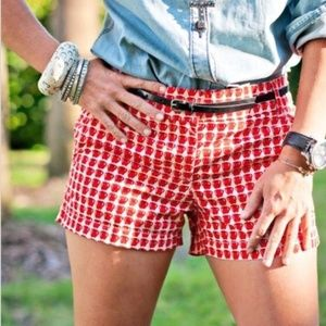 J Crew Mini Delicious Apple Shorts Cotton Chino 8